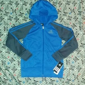 New Adidas Climawarm Hoodie Jersey Track Jacket